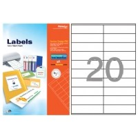 Formtec Label 2000/105x29mm #20 Box of 100 Sheets