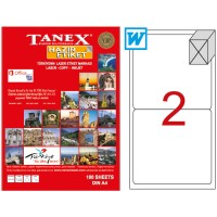 TANEX A4 2 LABELS 208x146  ROUND