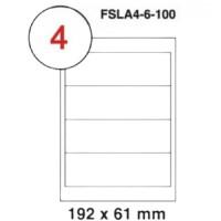 MULTI PURPOSE WHITE LABEL-192X61mm-FSLA4-6-100