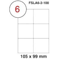MULTI PURPOSE WHITE LABEL-105X99mm-FSLA6-2-100