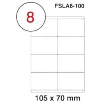 MULTI PURPOSE WHITE LABEL-105X70mm-FSLA8-100