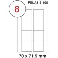 MULTI PURPOSE WHITE LABEL-70X71.9mm-FSLA8-3-100