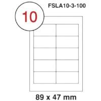 MULTI PURPOSE WHITE LABEL-89X47mm-FSLA10-3-100