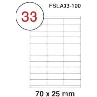 MULTI PURPOSE WHITE LABEL-70X25mm-FSLA33-100