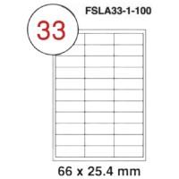 MULTI PURPOSE WHITE LABEL-66X25.4mm-FSLA33-1-100