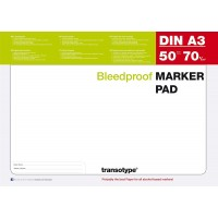 Transotype Marker Pads - A3 Size - Pkt of 50 sheets
