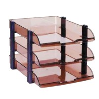 Paper Tray Usign 3tier (Pvc) Smoke & Clear