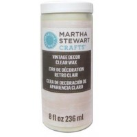 MARTHA STEWART VINTAGE DECOR 8 OZ. CLEAR WAX