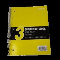 Enlivo 3 Subject Notebook