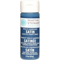 MARTHA STEWART MULTI SURFACE PAINT SATIN 2 OZ. WILD BLUEBERRY