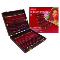 Derwent Pastel Pencils Wooden Box of 48