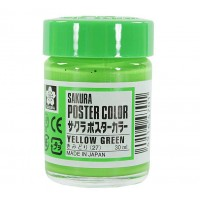SAKURA POSTER COLOURS YELLOW GREEN