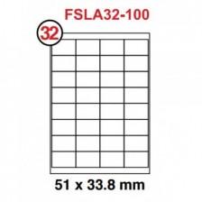 MULTI PURPOSE WHITE LABEL-51X33.8mm-FSLA32-100