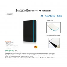 SANTHOME – AMS-NBSN 105 Sukh Hardcover A5 Size, Ruled PVC Notebook