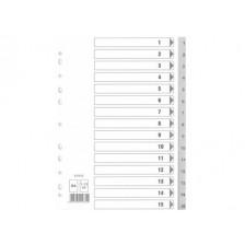Divider (1-15) PVC A4 Gray