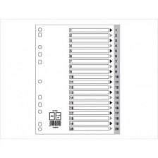 Divider(1- 20)Pvc A4 Gray