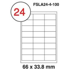 MULTI PURPOSE WHITE LABEL-66X33.8mm-FSLA24-4-100