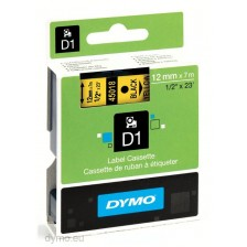Dymo Labelling Tapes (12mmx7m) D1 Black Printing on yellow lable -45018