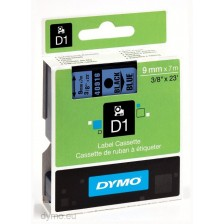 Dymo Labelling Tapes (9mmx7m) D1 Black Printing on Blue lable -40916