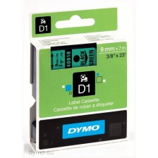 Dymo Labelling Tapes (9mmx7m) D1 Black Printing on GREEN lable -40919