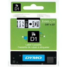 Dymo Labelling Tapes (9mmx7m) D1 Black Printing on White lable -40913