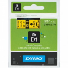Dymo Labelling Tapes (9mmx7m) D1 Black Printing on yellow lable -40918