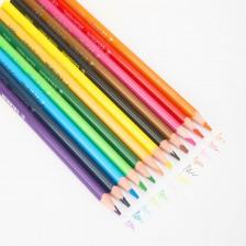 Deli Plastic Colored Pencil Triangle Bright 24C