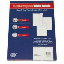 MULTI PURPOSE WHITE LABEL-63.5X72mm-FSLA12-2-100