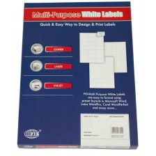 MULTI PURPOSE WHITE LABEL-101.5X50.8mm-FSLA10-1-100