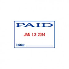 Self Ink Stamp -Paid with Date