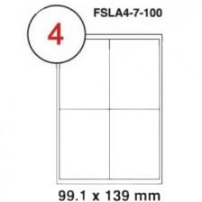 MULTI PURPOSE WHITE LABEL-99.1X139mm-FSLA4-7-100