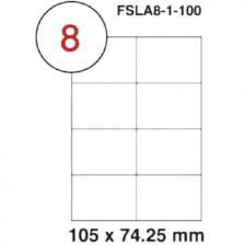 MULTI PURPOSE WHITE LABEL-105X74.25mm-FSLA8-1-100