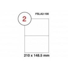 MULTI PURPOSE WHITE LABEL-210X148.5mm-FSLA2-100