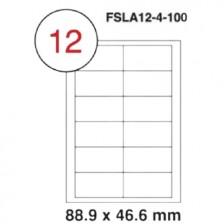 MULTI PURPOSE WHITE LABEL-88.9X46.6mm-FSLA12-4-100