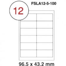 MULTI PURPOSE WHITE LABEL-96.5X43.2mm-FSLA12-5-100