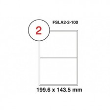 MULTI PURPOSE WHITE LABEL-199.6X143.5mm-FSLA2-2-100