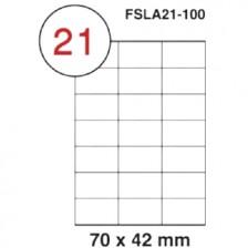MULTI PURPOSE WHITE LABEL-70X42mm-FSLA21-100
