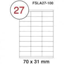 MULTI PURPOSE WHITE LABEL-70X31mm-FSLA27-100