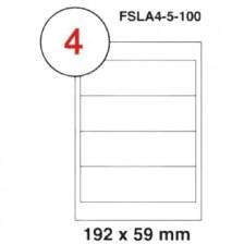 MULTI PURPOSE WHITE LABEL-192X59mm-FSLA4-5-100