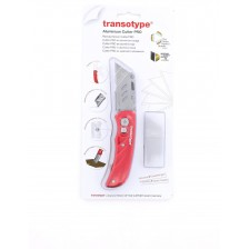 Transotype Red Aluminium Cutter Pro includes 5 blades