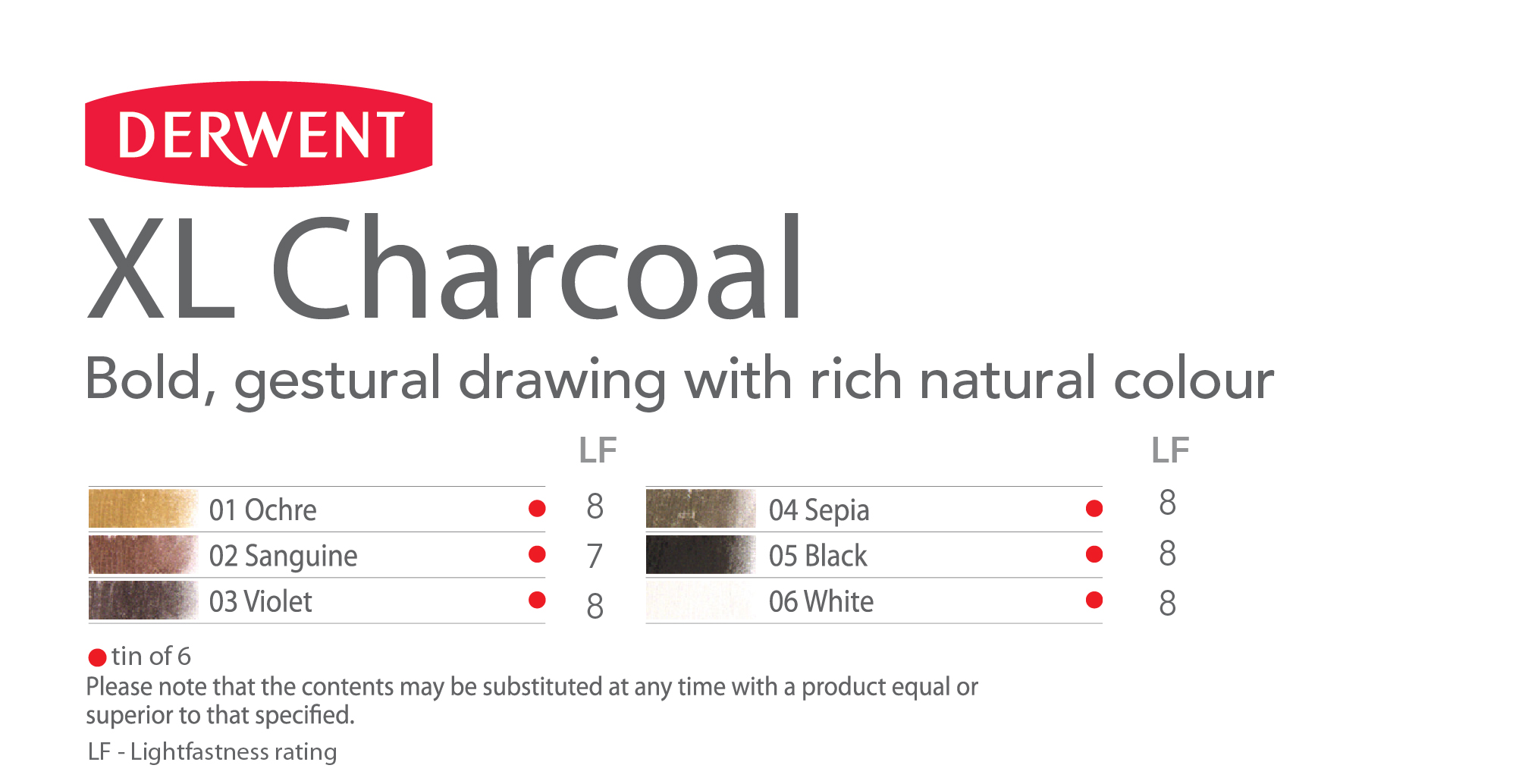 Derwent Xl Charcoal Block Sepia